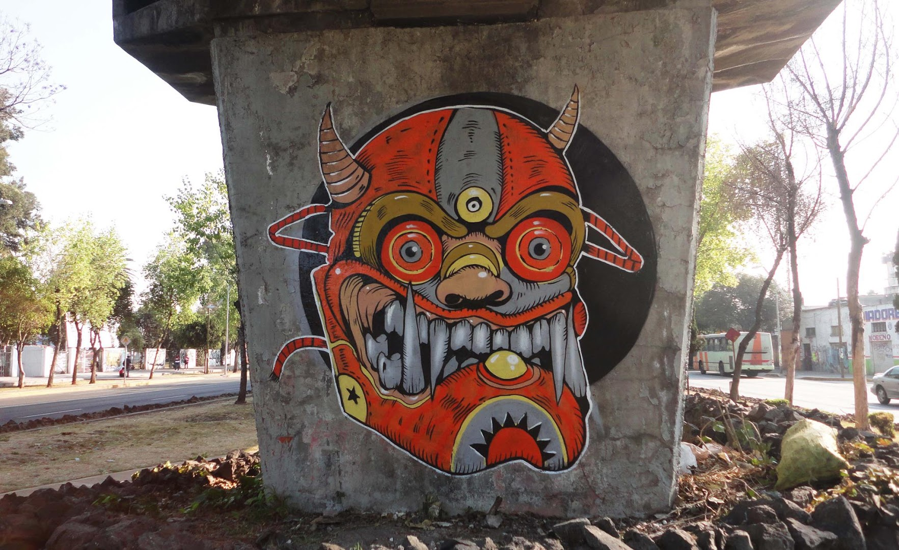 -Demon Fury-Street art in Mexico by artist Trasher