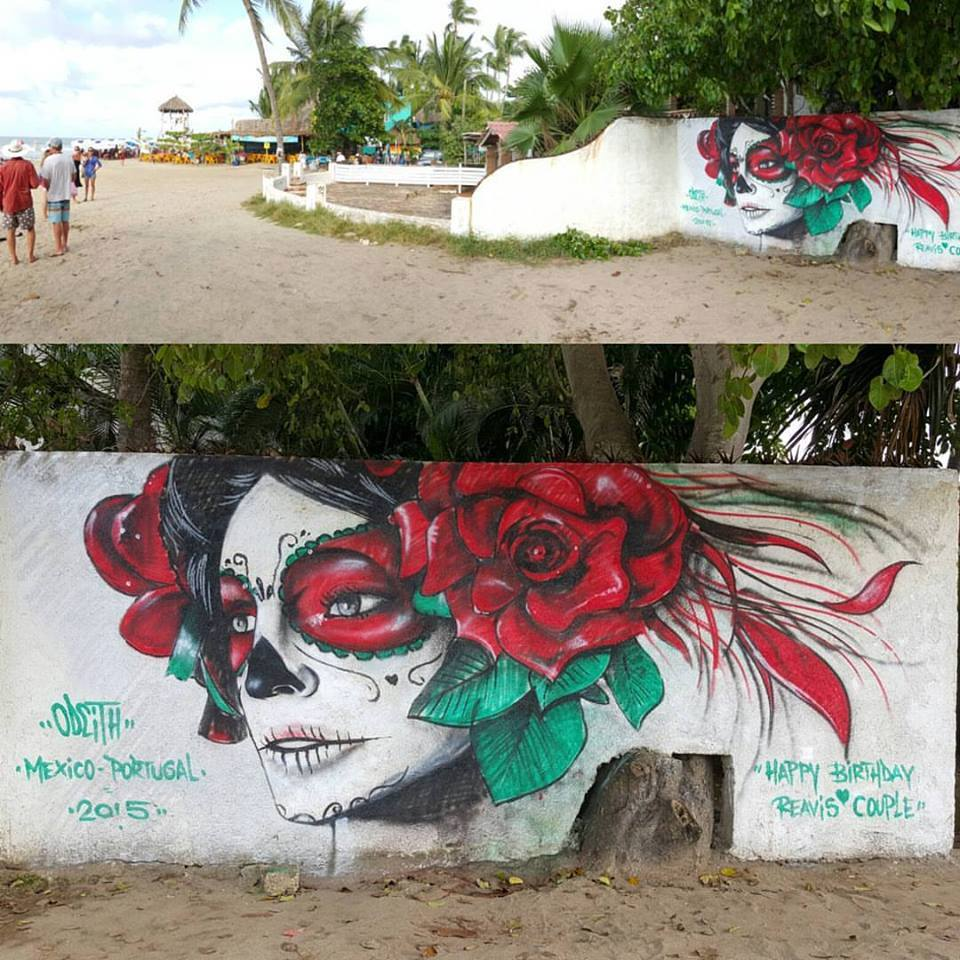 Street art in Sayulita, Mexico, by artist Odeith
