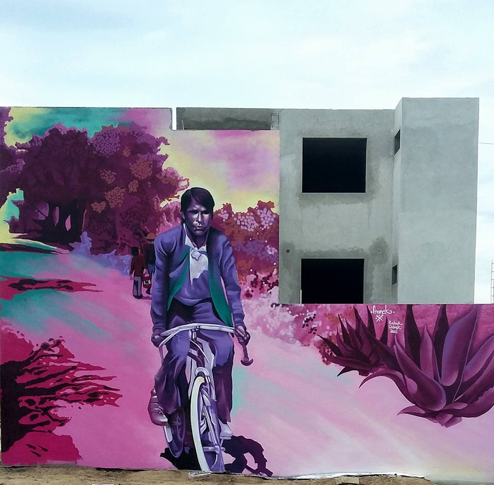 -TONCHI-Street art in Mexico by artist Franck Salvador. Photo by Franck Salvador