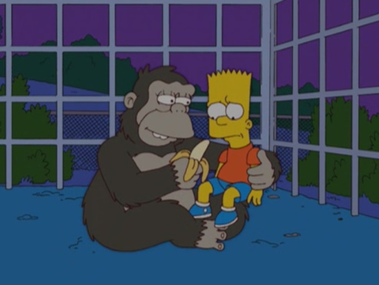 the_simpsons_Bart_Has_Two_Mommies_gorilla