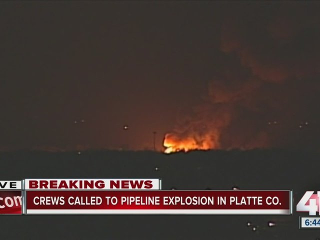 Massive Natural Gas Pipeline Explosion Reported Near Platte City